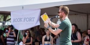 Dave Reidy at Book Fort at Pitchfork Music Festival (2015)